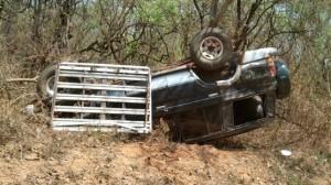 An Overturned Safari Land Cruiser.