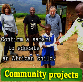 Cild funding in Uganda, Community Outreach Projects - African Adventure Travellers